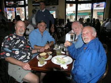 Benny, Jim, Earl and Roger at Sly McFly's on Cannery Row, Monterey. '09 Rolex Grand-Am at Laguna Seca.
