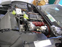 Engine compartment in progress