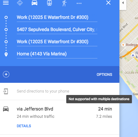 Android Auto And Google Maps Multiple Stops Support