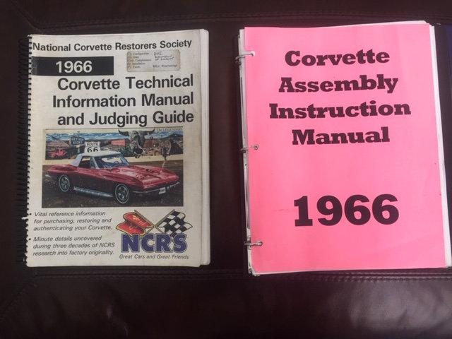 FS (For Sale) NCRS Manuals and Resto Books - CorvetteForum