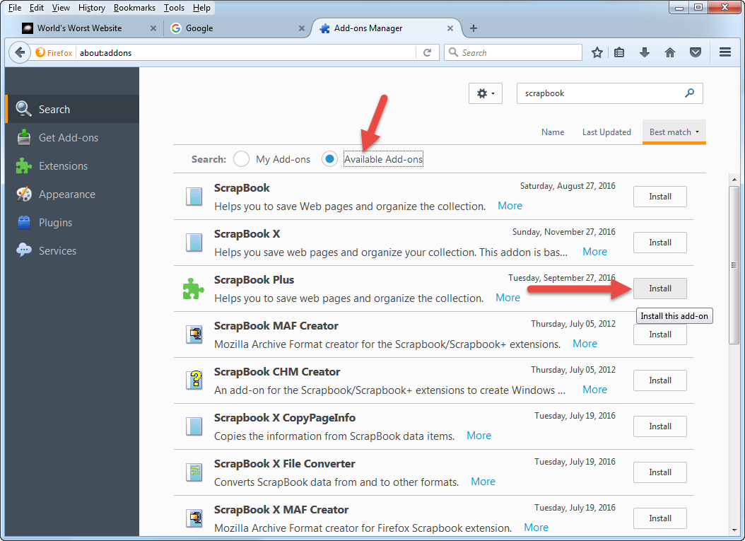 How to use scrapbook in firefox - In Case The Link To Scrapbook Isn T Working For You Or If You Don T Want To Use A Link