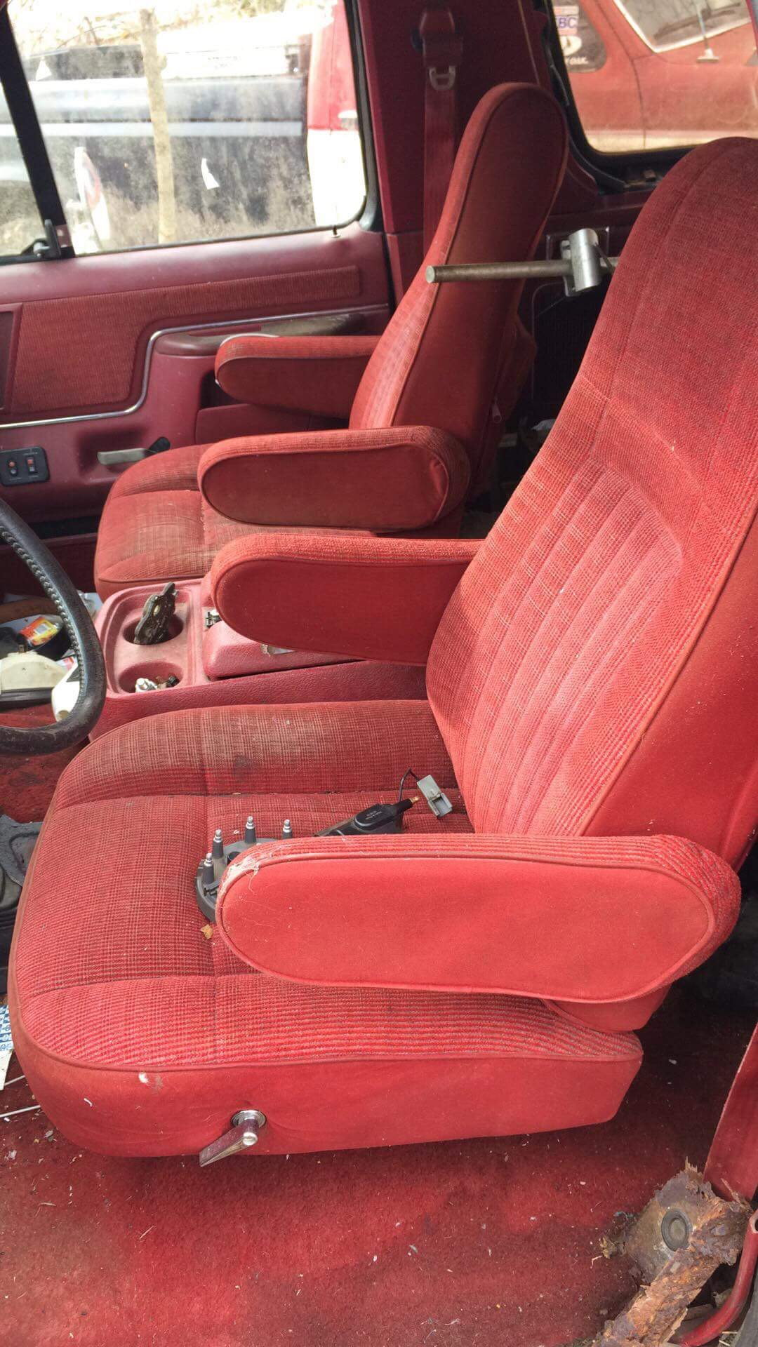 89 Bronco Bucket Seats In A 89 F 150 Ford F150 Forum
