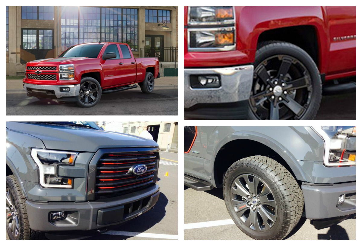 look at the chevy special edition is it paint to match chrome black wheels it cannot figure out what its trying to be this f 150 is put together