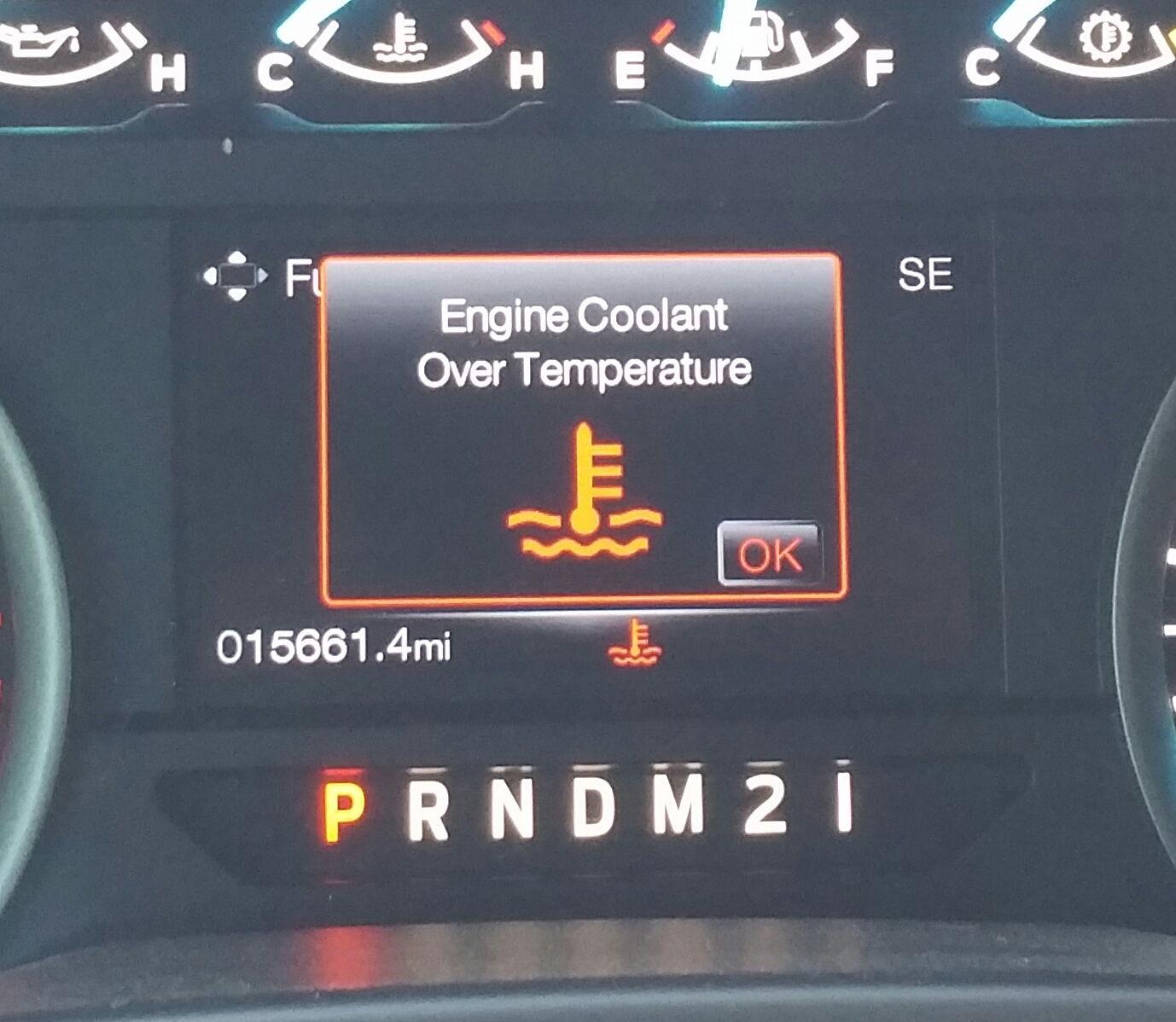 engine coolant overtemperature