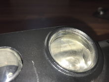 Light scuff on cargo lamp dome lens