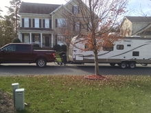 """I pull a 2015 Hideout 26"""" travel trailer.  Dry weight is 5500#. I've got a 2015 3.5EB with Max Tow."""
