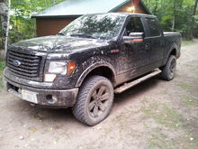 after a few hours on the logging trails