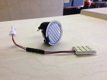 puddle light with LED replacement