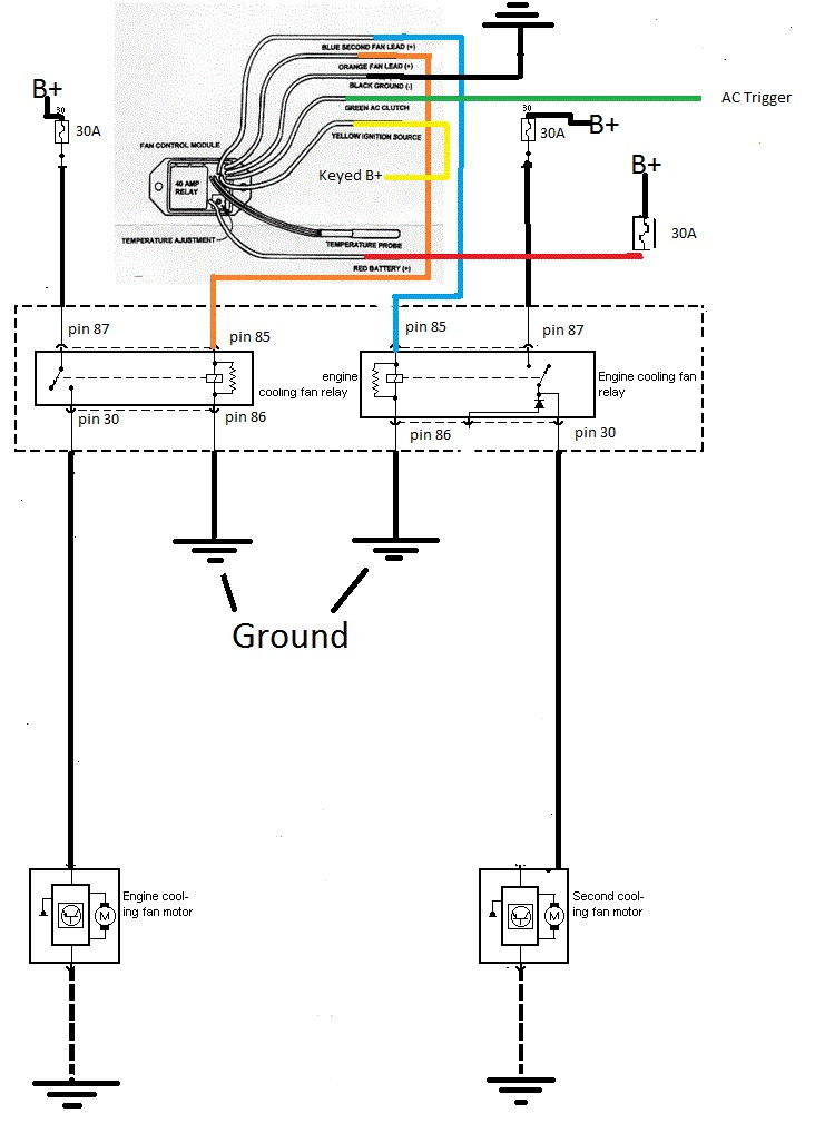 Hayden fan relay wiring diagram wiring diagrams my windstar e fan install ford f150 forum community of ford and already had plenty of wire and connectors around picked up a couple 40 amp relays 1 for asfbconference2016