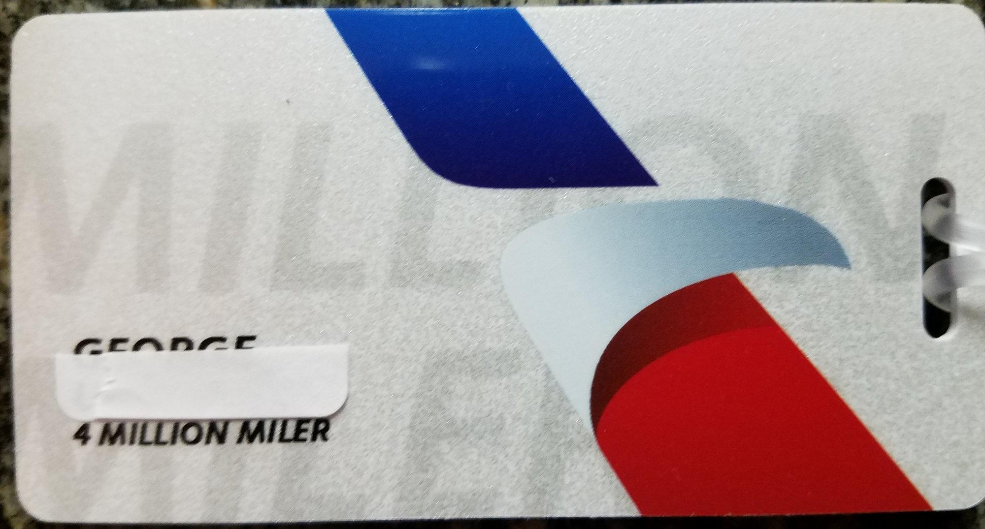 New Million Mile Luggage Tags Dec 2017 Flyertalk Forums