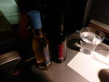 VLM Airlines inflight service: wine offering.