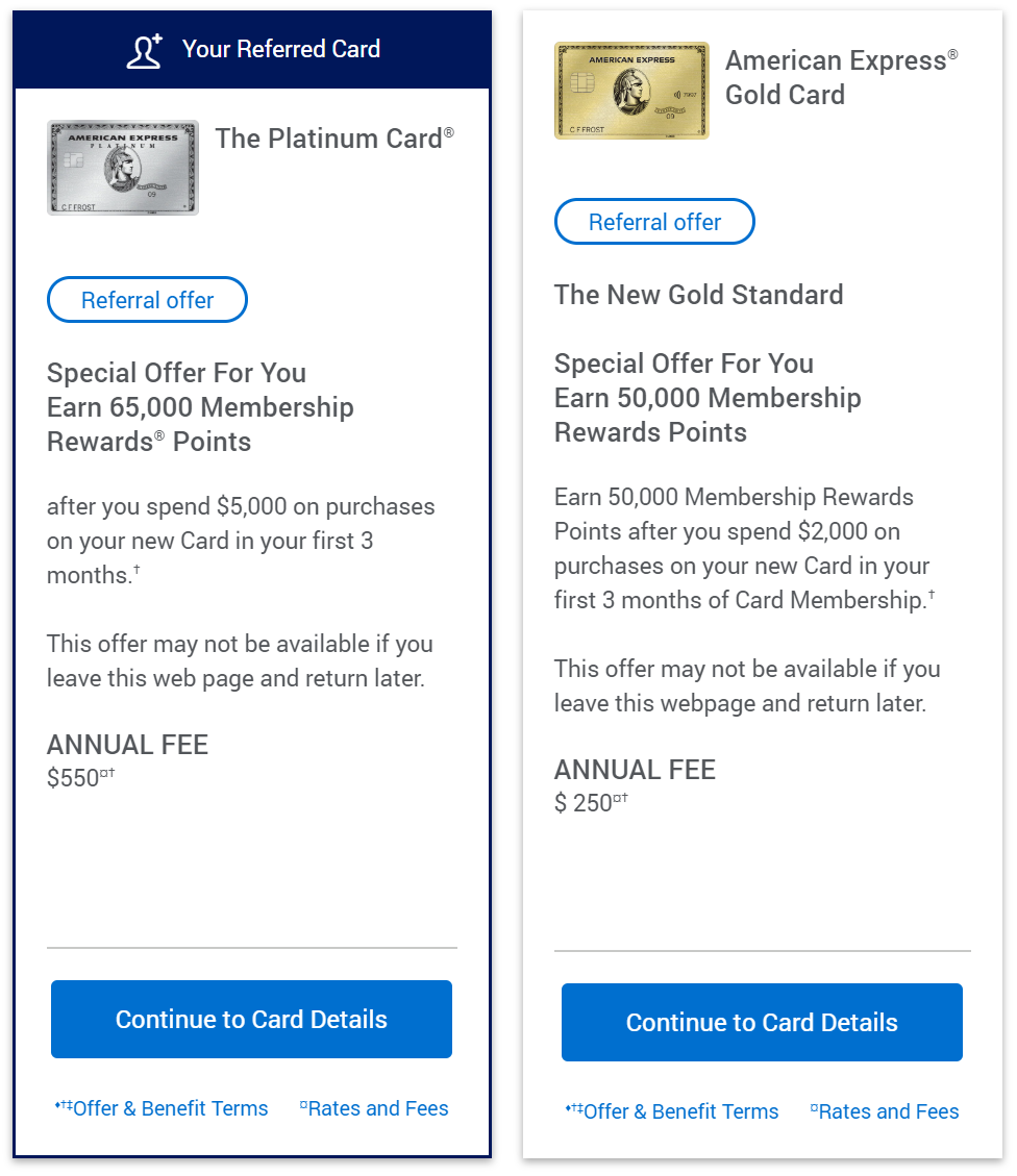 American Express Referral Offers (Read Wiki before posting