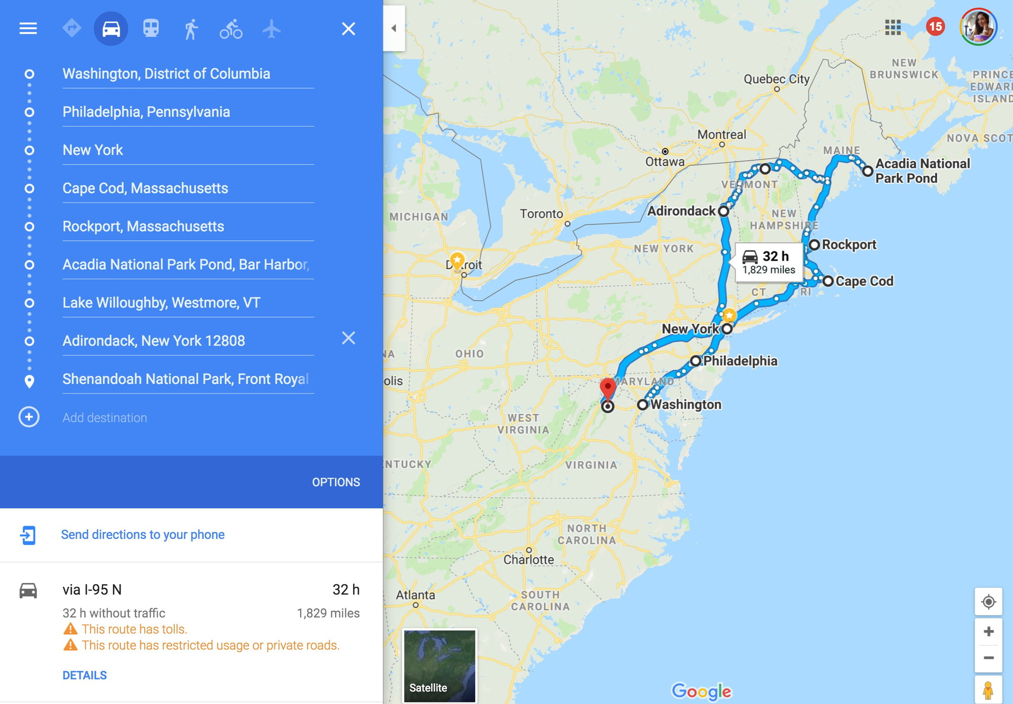 US East Coast Road Trip Itinerary Suggestions - Fodor\'s Travel Talk ...