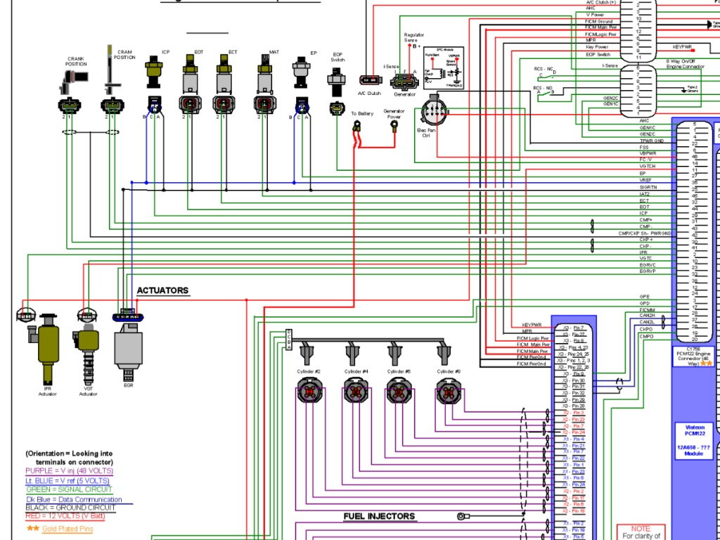 6 0 Powerstroke Ficm Wiring Diagram - Schematics Online  Ficm Wiring Diagram on
