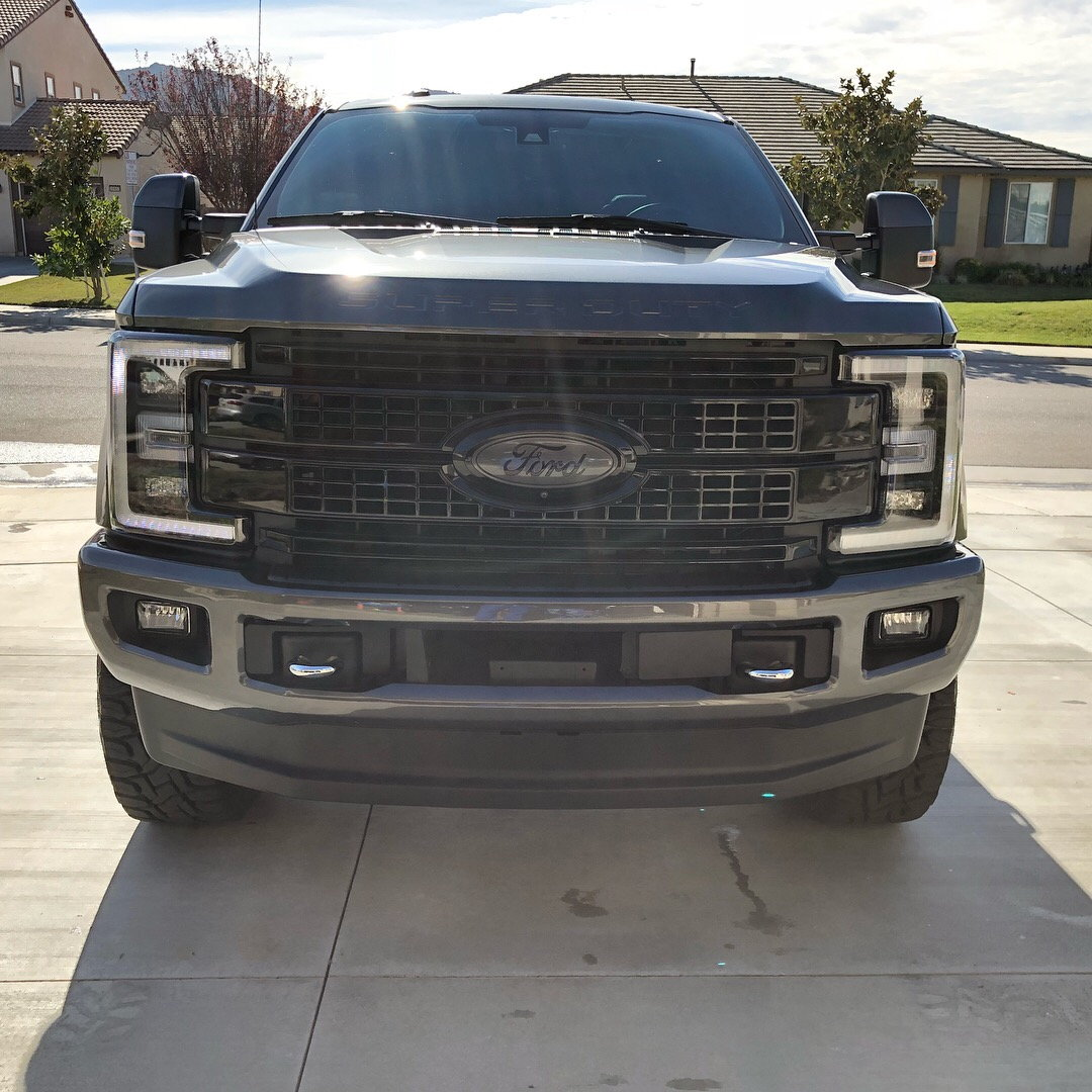 Parting Out Mods 2017 F250 Carli Suspension Fox Shocks Wheels 2004 Ford F 250 Black Grill Headlights With Smoked Reflector Platinum Grille Matching Front Emblem Magnetic Tailgate Plaque
