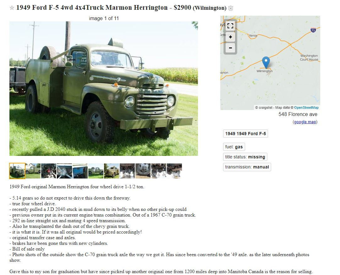 Craigslist find of the week! - Page 216 - Ford Truck ...