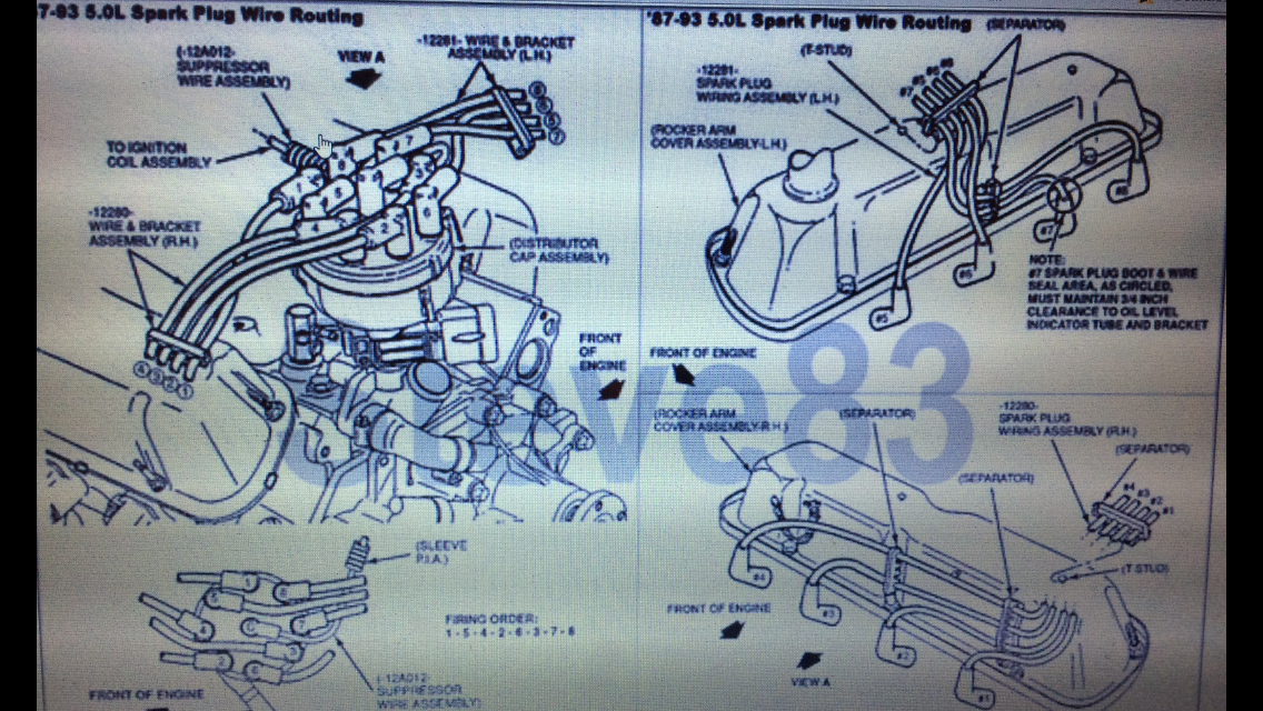 Spark Plug Wire Routing For 73-79 302 Engine