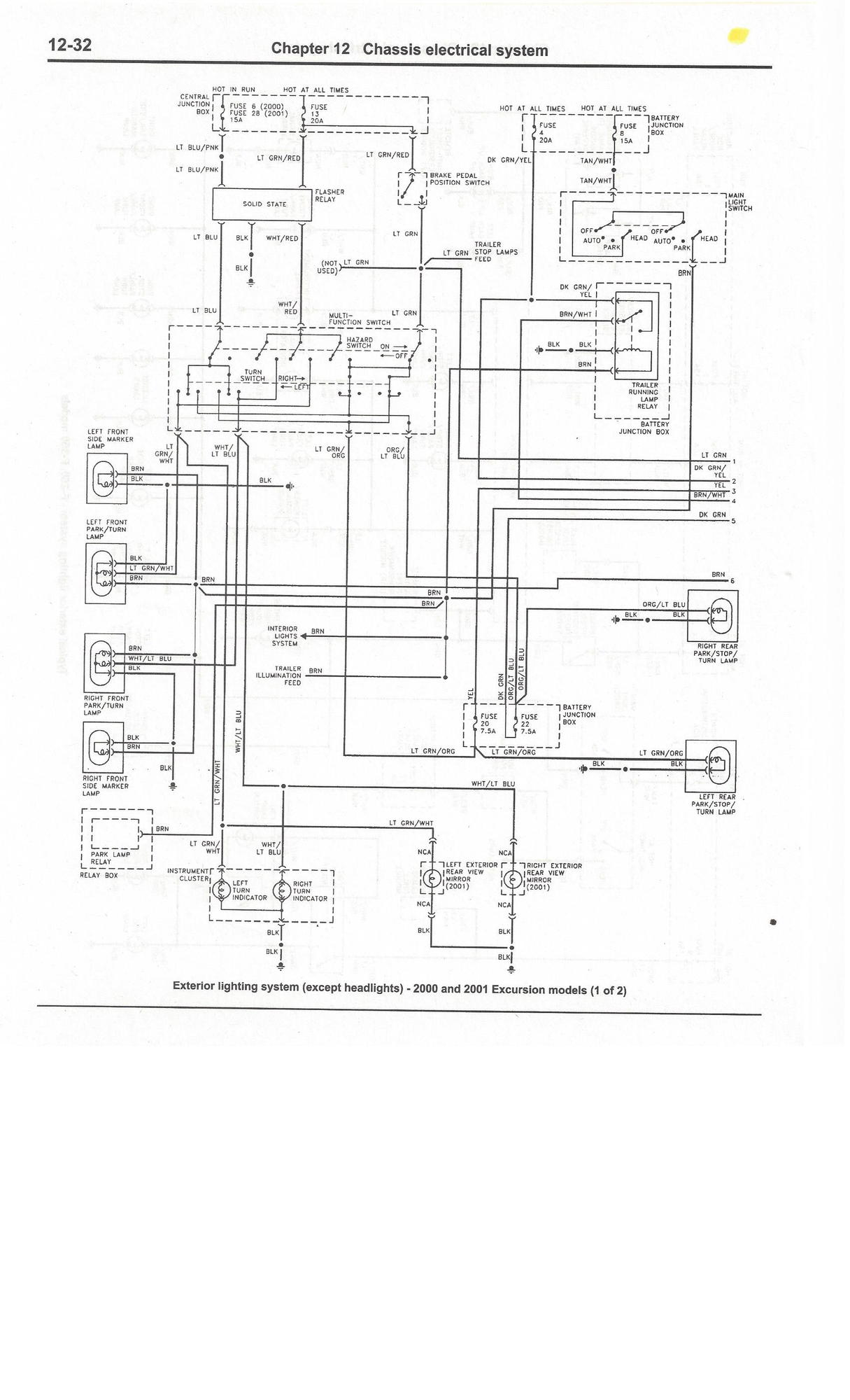 Complete Excursion Wiring Diagrams So Far Ford Truck 1997 Expedition Xlt Diagram4wdtrailer Light Plug Exterior Lighting System Exc Headlights 00 01 Br 1 Of 2