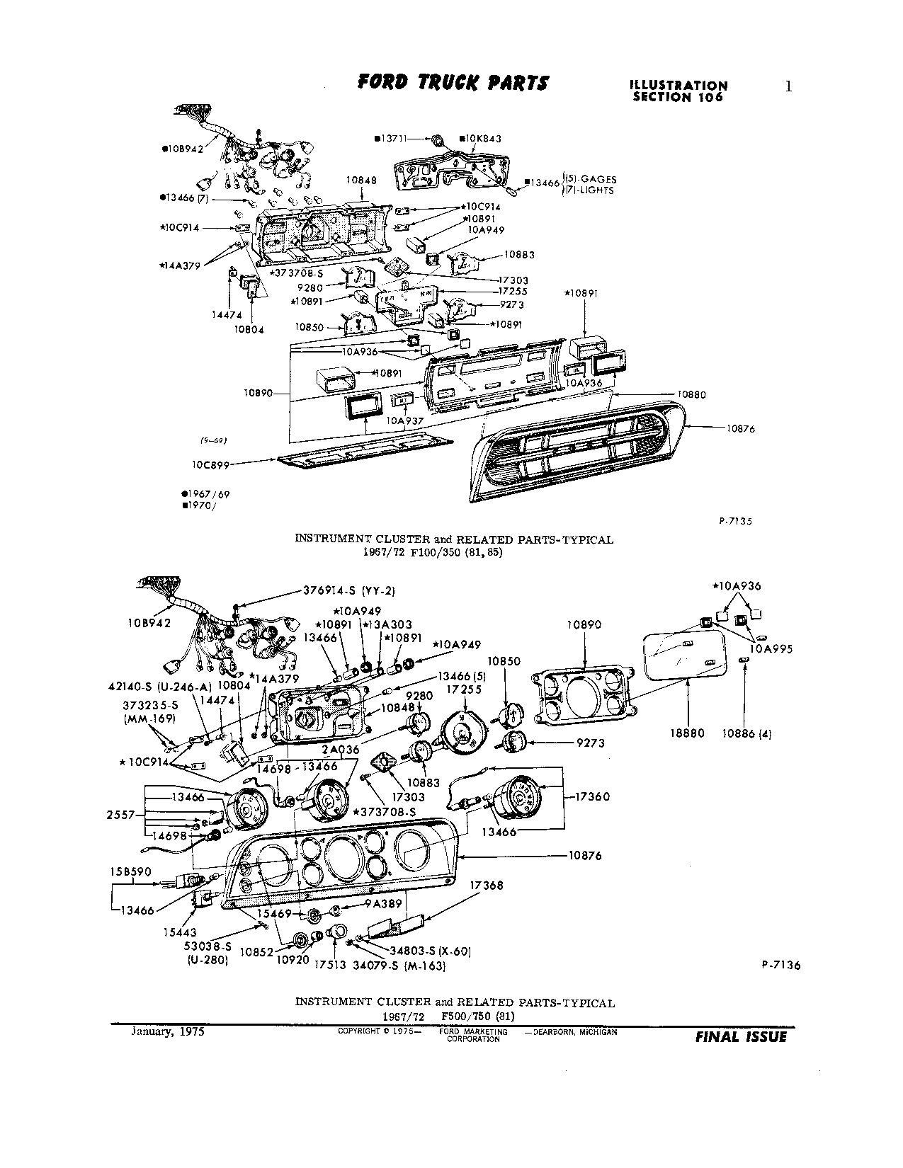 1971 F250 gauge picture & Information - Ford Truck ...