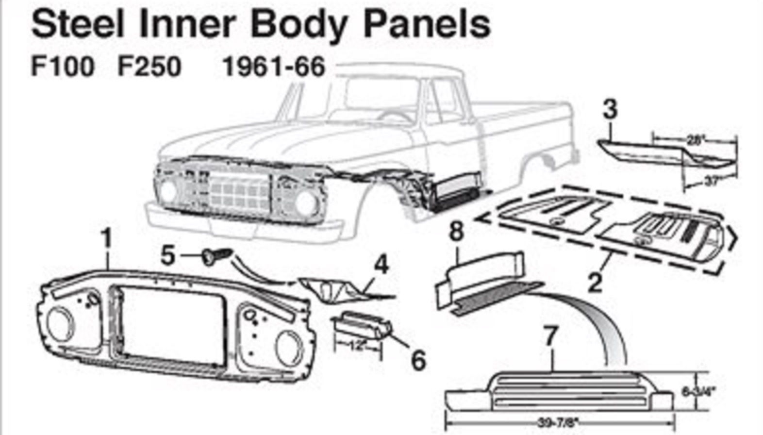 radiator support 65-66