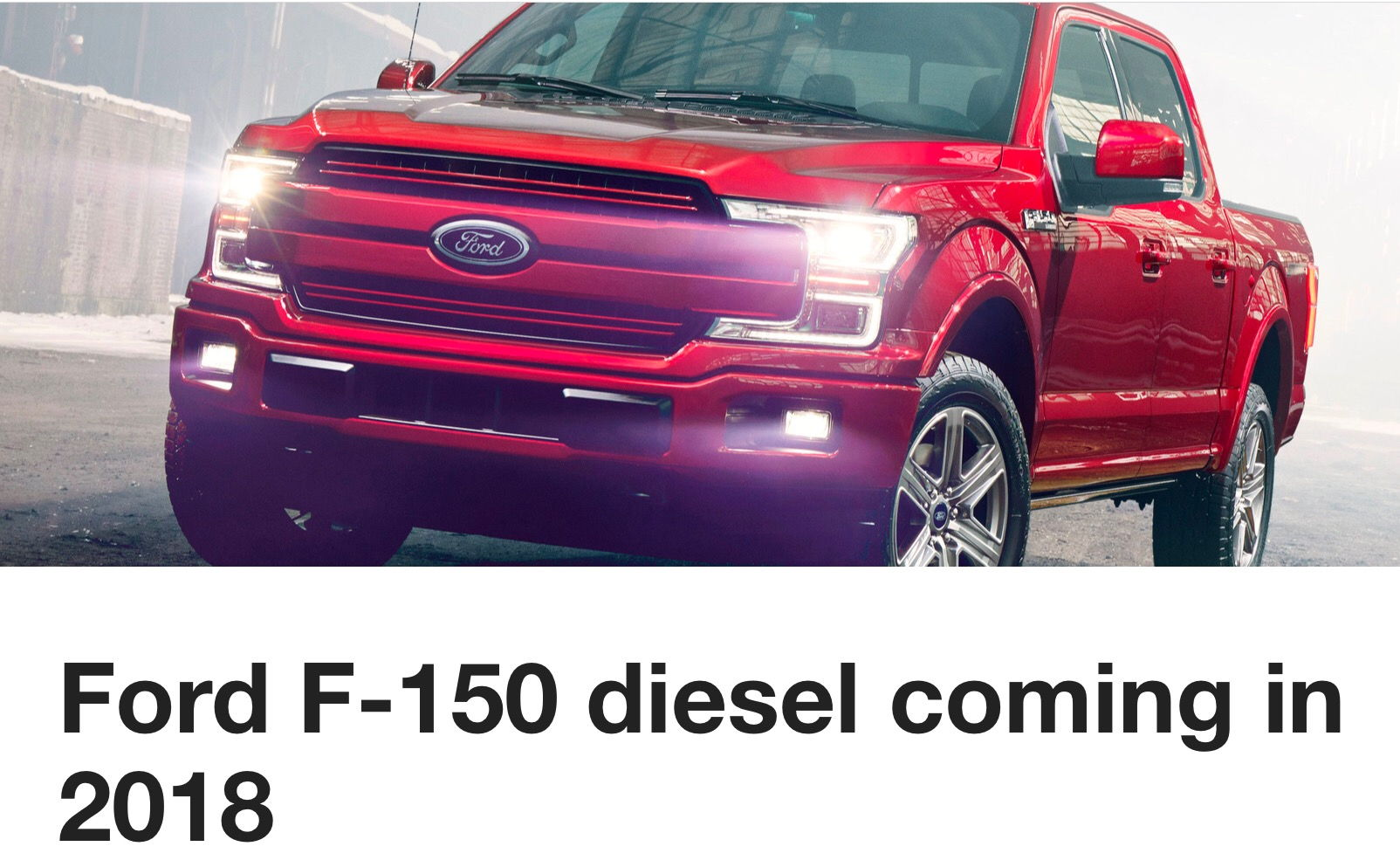 2018 ford f150 diesel just announced ford truck enthusiasts forums. Black Bedroom Furniture Sets. Home Design Ideas