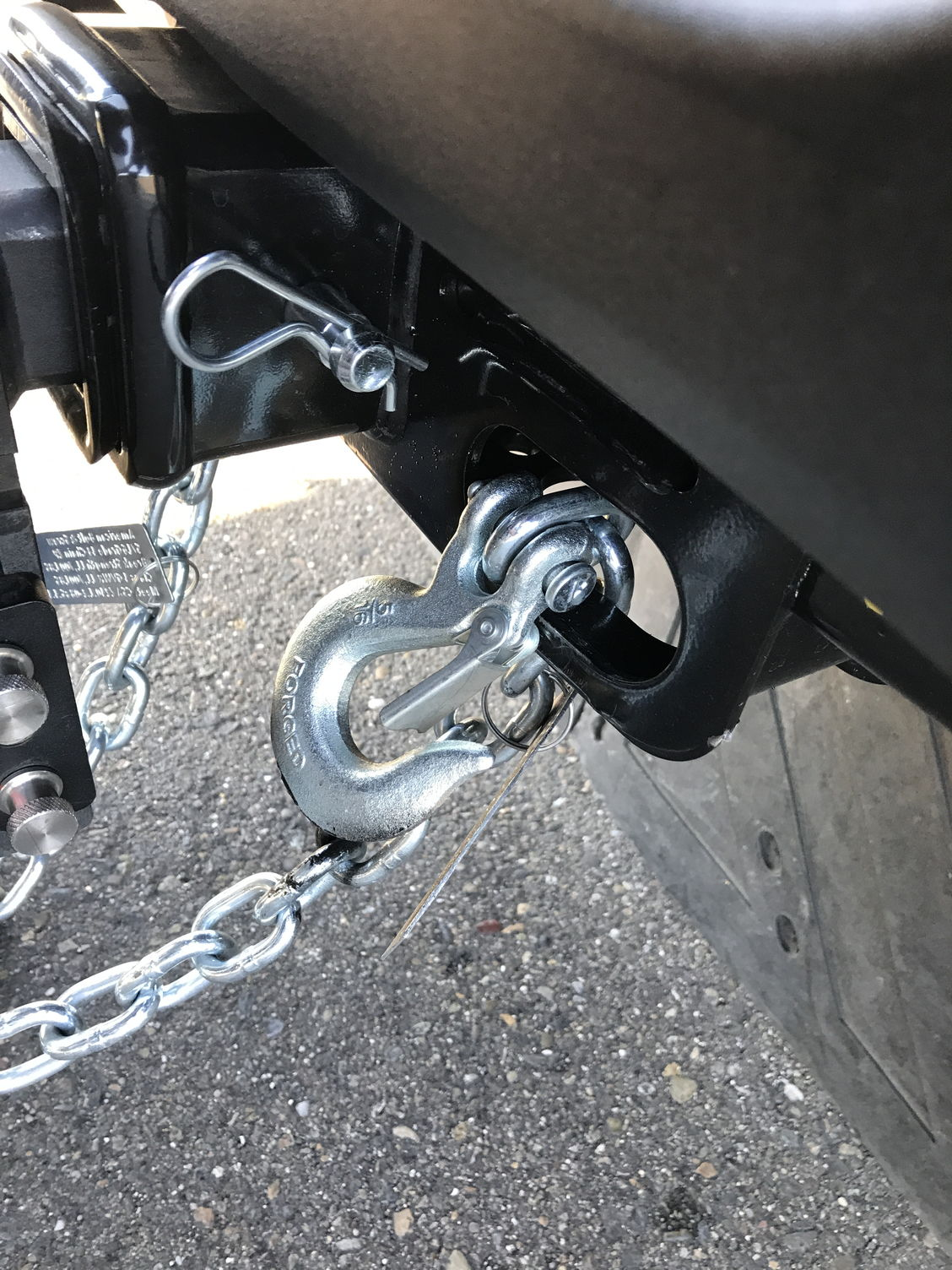 from Jeffery safety chain hook up