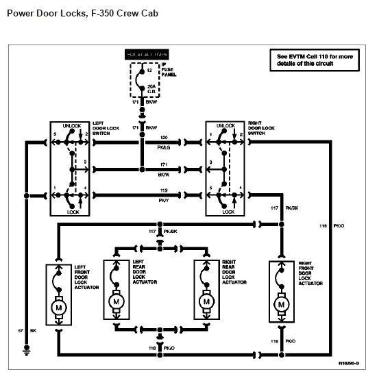 96 f350 Crew Cab door electrical - Ford Truck Enthusiasts Forums | Ford F350 Door Lock Wiring Diagram |  | Ford Truck Enthusiasts