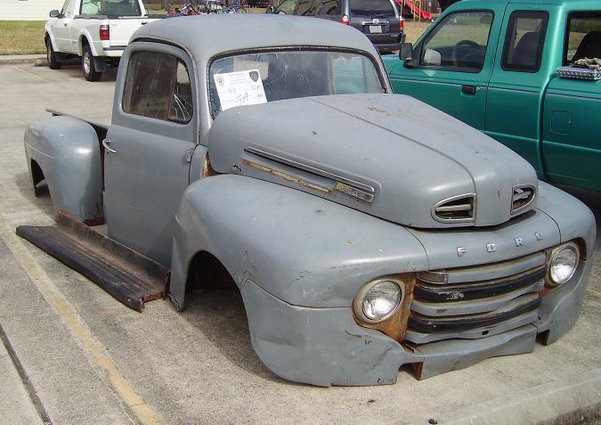 1950 ford f1 half ton pickup body only frame swap ford. Black Bedroom Furniture Sets. Home Design Ideas