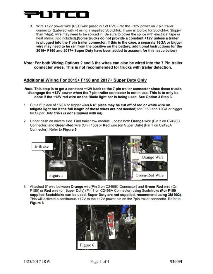 Wire Trailer 12v Power To Upfitter Switch