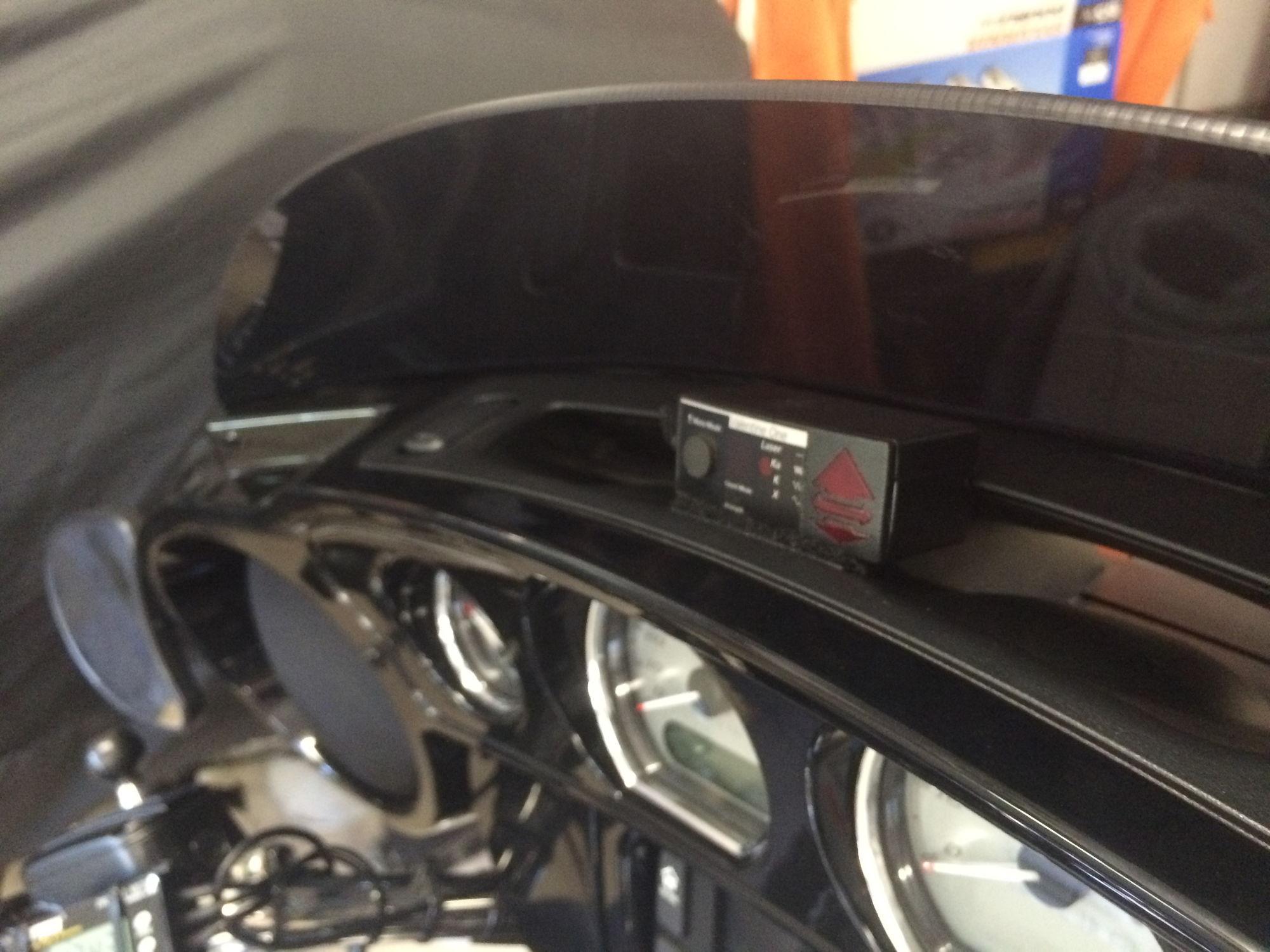 Valentine Radar Detector Mounted In Fairing Harley