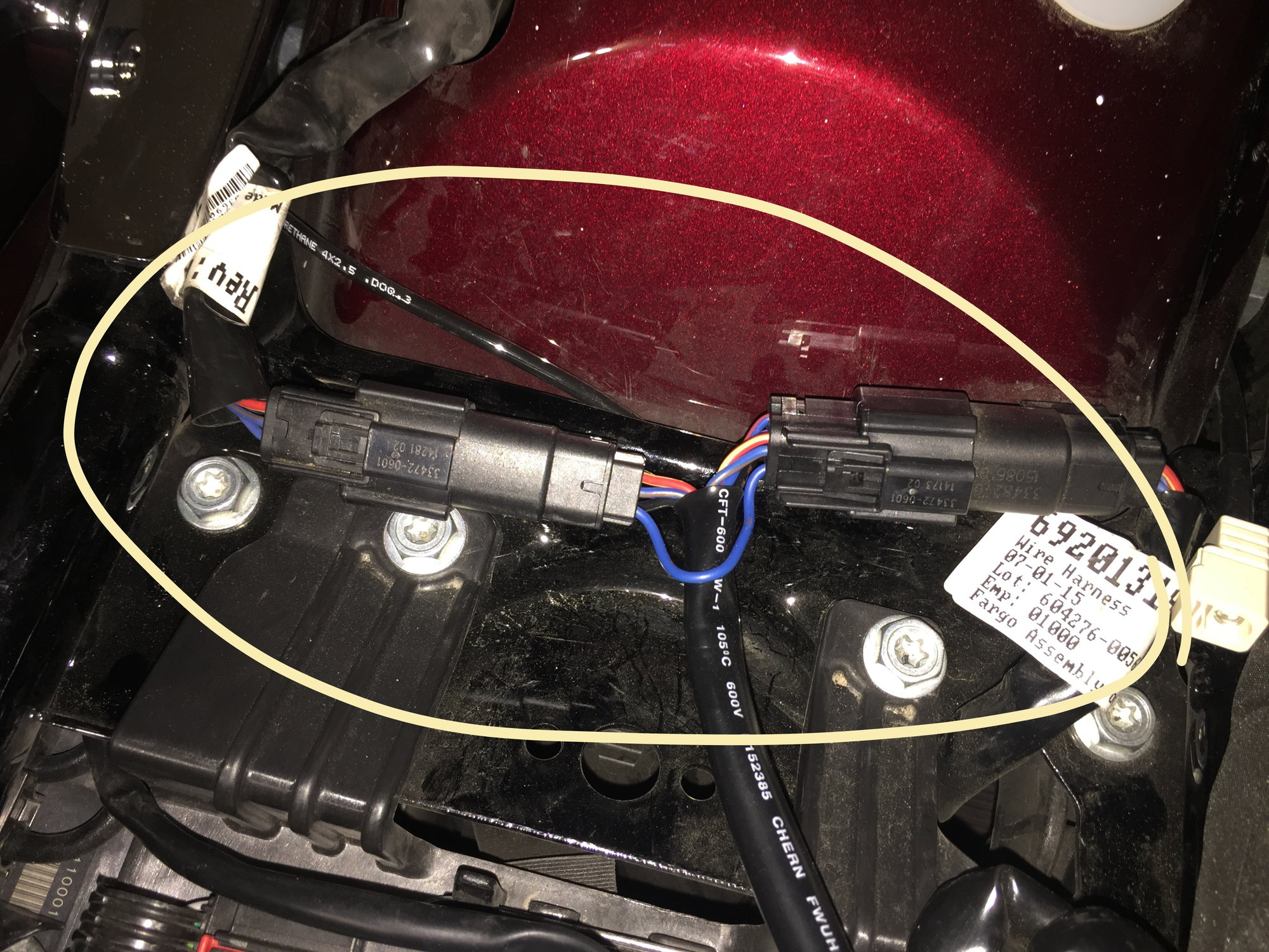 Wiring Locations for Detachable Tour Pack with pics - Harley ... on