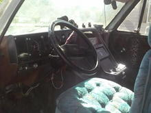 Cabin front with custom seat from '95 Dodge