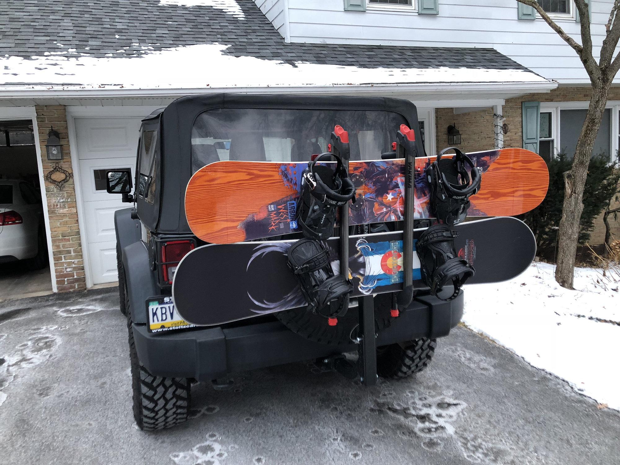 Ski Snowboard Rack Options For 2 Door Soft Top Jk Jk