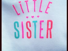 of course, she has to have a little sister shirt!
