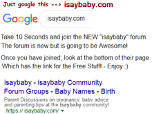 go to isaybaby.com