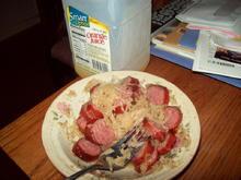 keilbasi N saurkraut is the greatest.