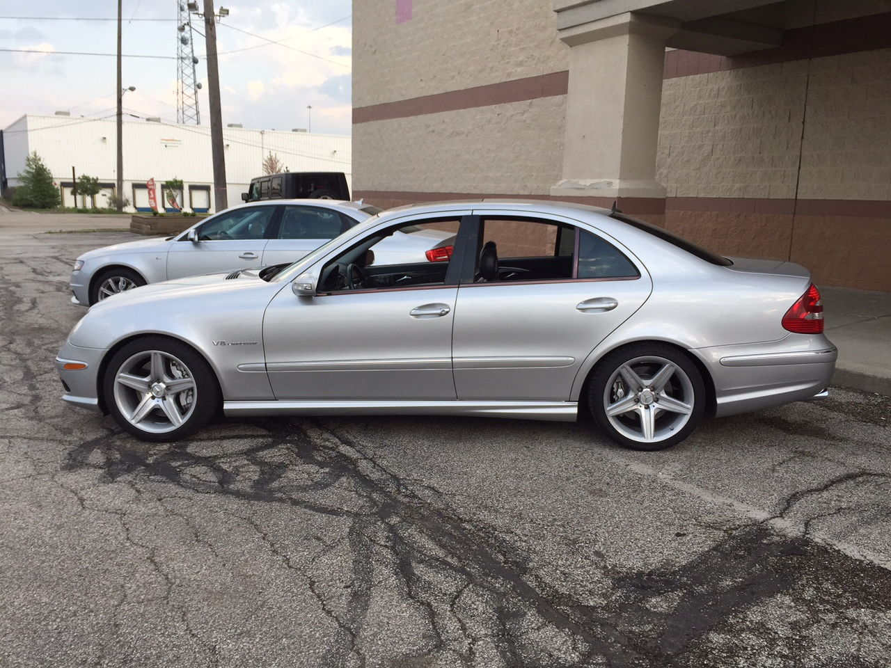 W211 E55 With W219 Sport Package Wheels Mbworld Org Forums