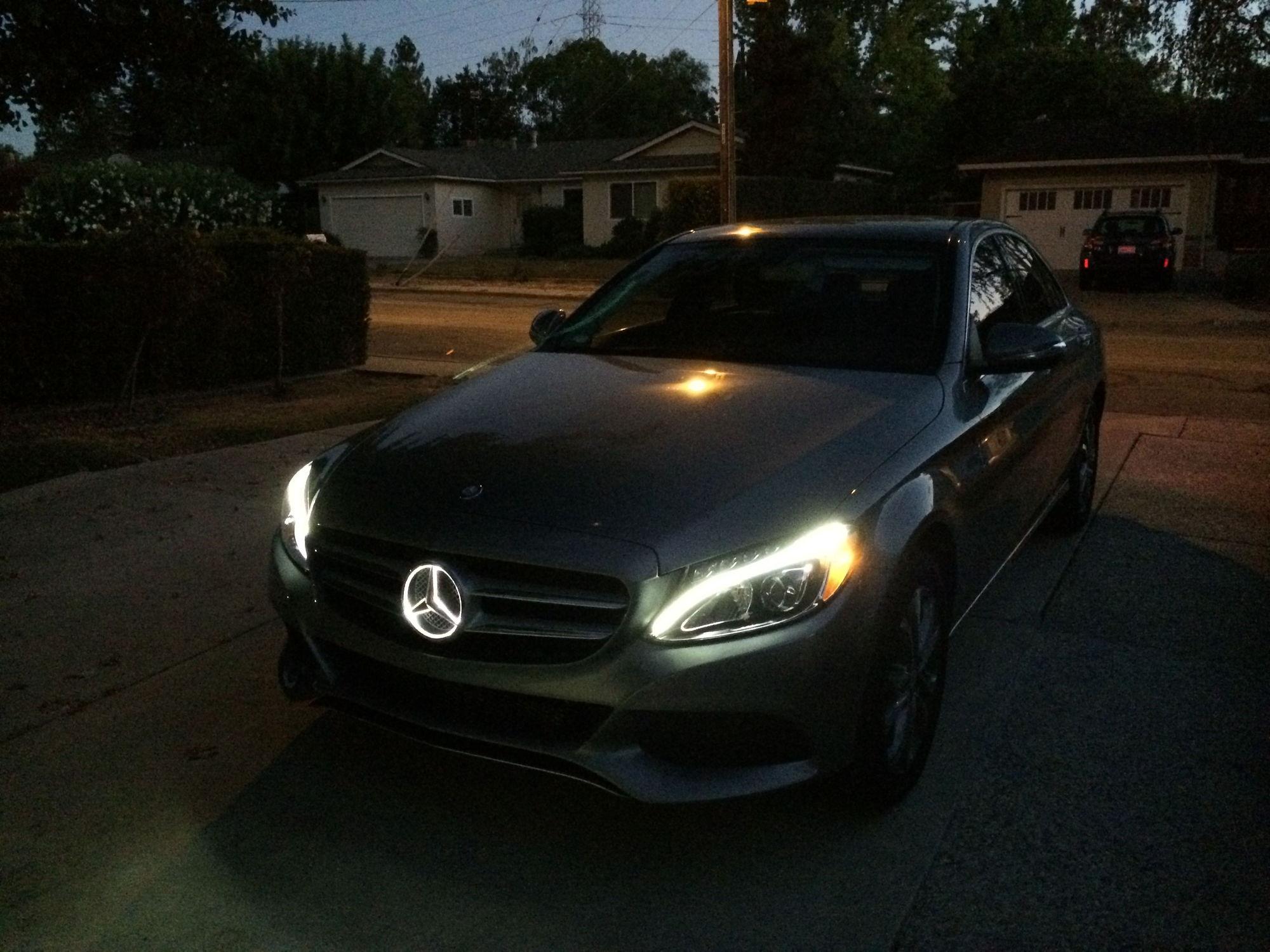 W205 illuminated star diy forums for Mercedes benz illuminated star