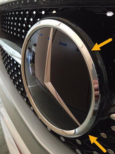 OEM 3 POINT REAR MATTE BLACK STAR LOGO EMBLEM FOR MERCEDES BENZ B CLASS W246 AMG