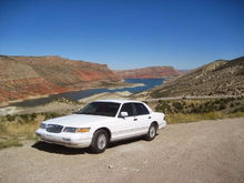 '95 MERC at Flaming Gorge, Utah