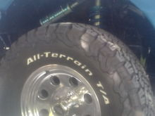 Installed King 2.5. X 8 inch travel..500lb spring..ride feels great..