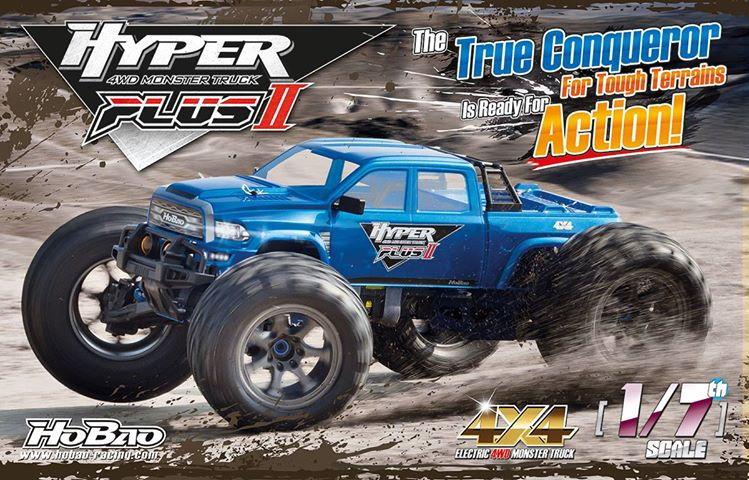 HOBAO monster truck HYPER MT2+ : the 2019 hyper mt, 1/7th