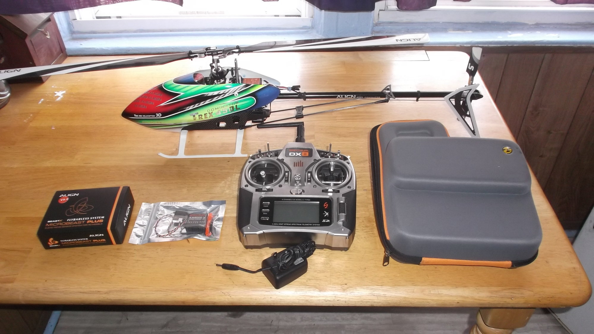 Brand new rtf align t-rex 450l dominator rc helicopter