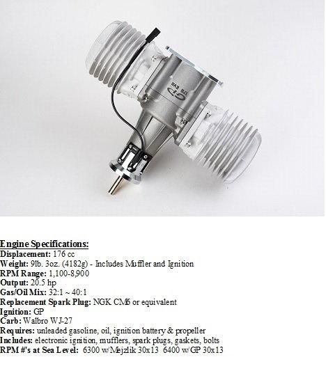 GP 176EVO Gas Motor with KS Canister Mufflers - RCU Forums