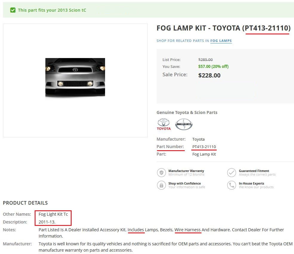 Help With Defective Oem Style Fog Light Harness Please Wiring Kit For Lights Afaik The Is Part Of You Can Check Your Local Toyota Dealer To See If They Have Separately