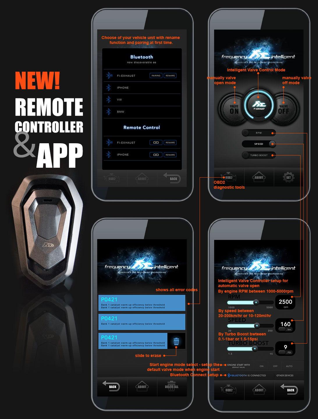 Fi exhaust l amg gt gts gtr l remote app controller l for Mercedes benz remote start app
