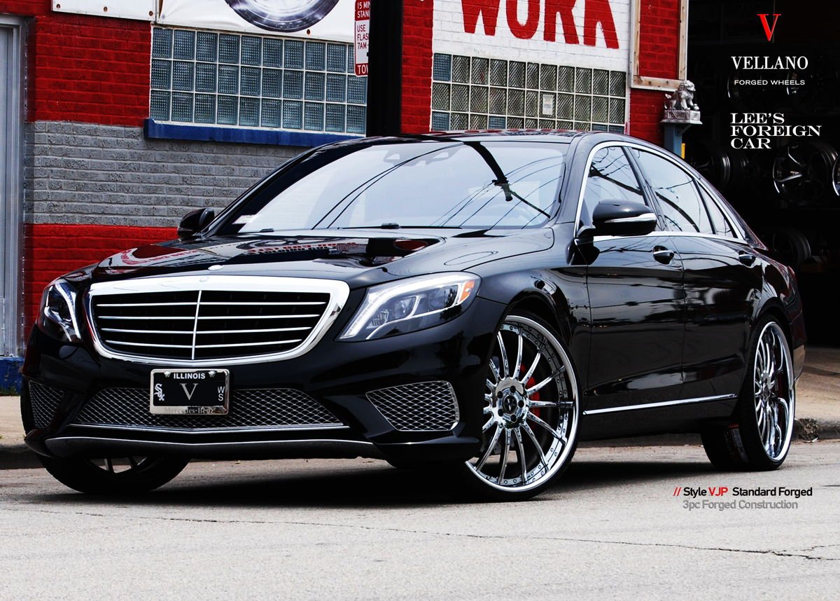 luxury mercedes benz s550 with custom wheels vellano vjp