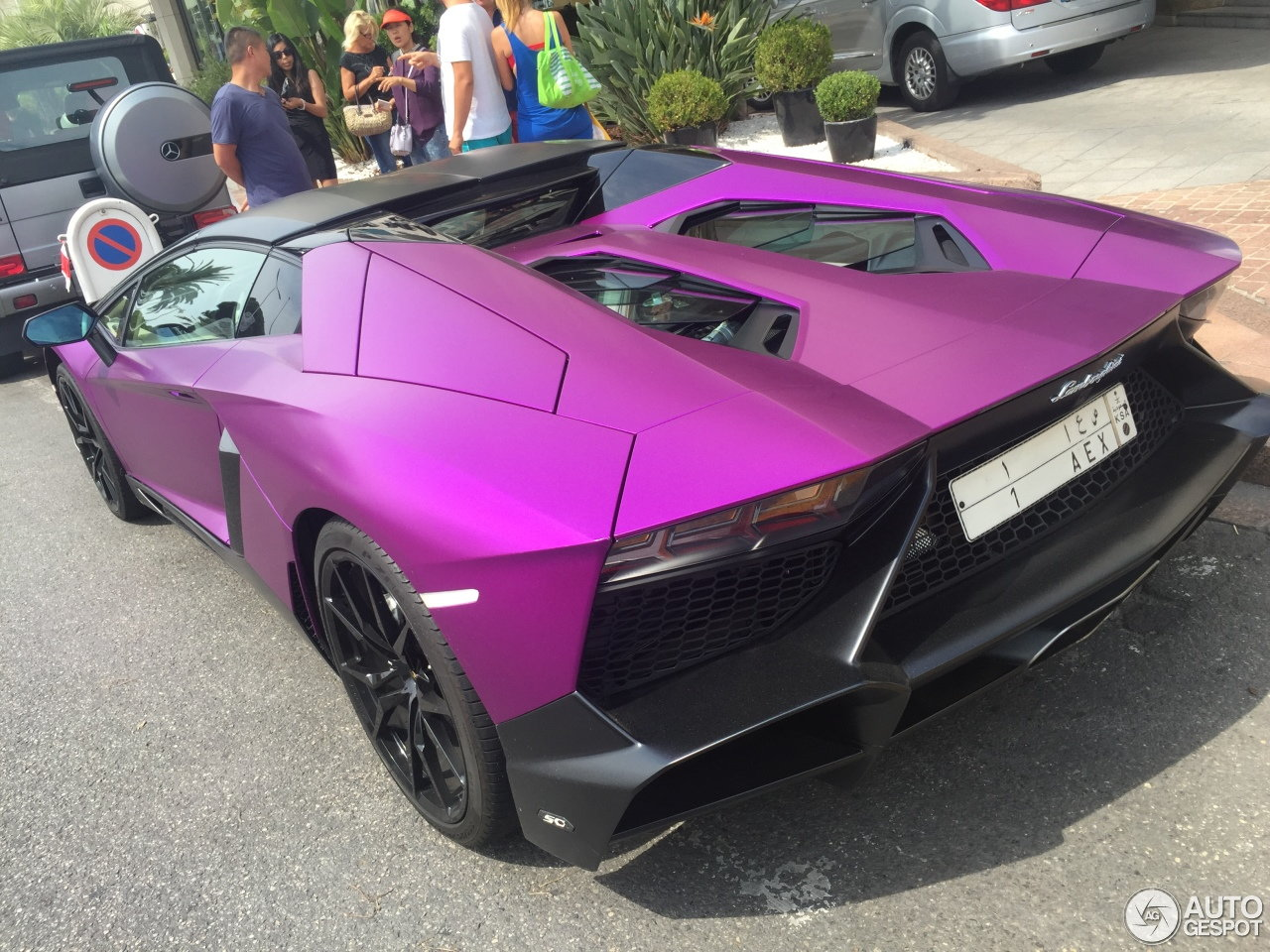 Purple Lamborghini Aventador Lp 720 4 50th Roadster Teamspeed Com