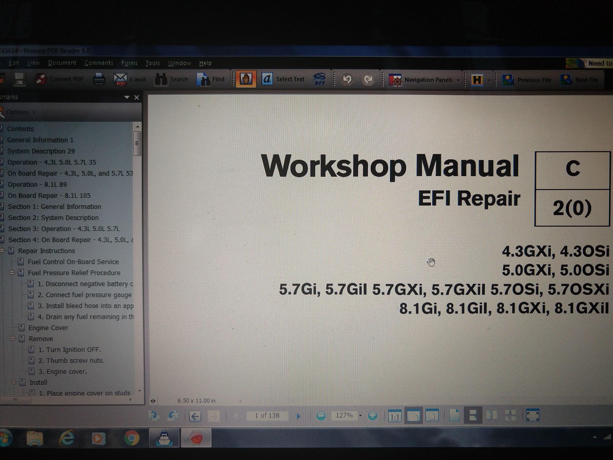 DIACOM Diagnostic Software and Mercury Marine Service Manual