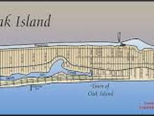 Map of Oak Island looking north from the sea